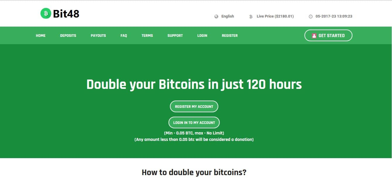 Ultimate Bitcoin Doubler Investment Script