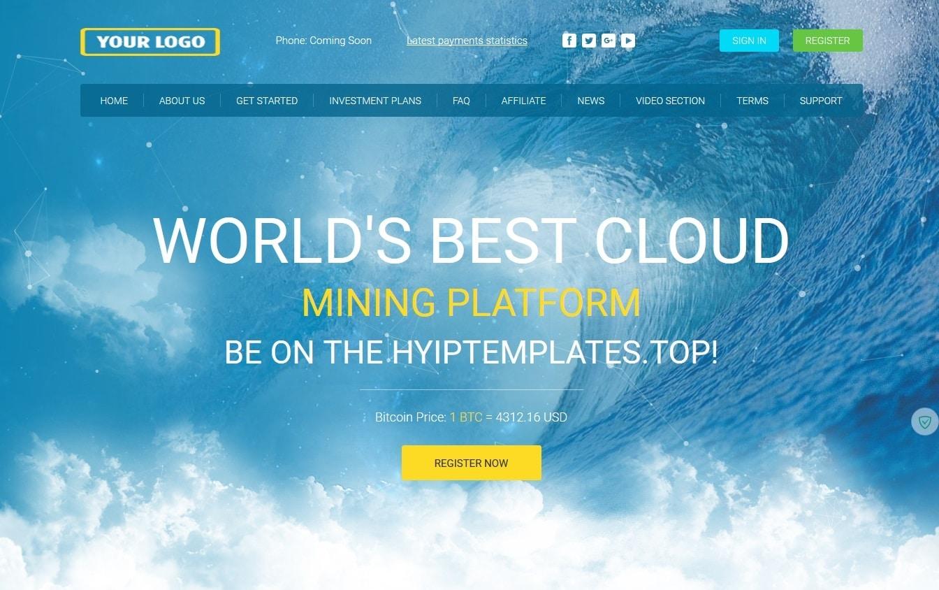 Premium Bitcoin Hyip Script With Mining Theme V2