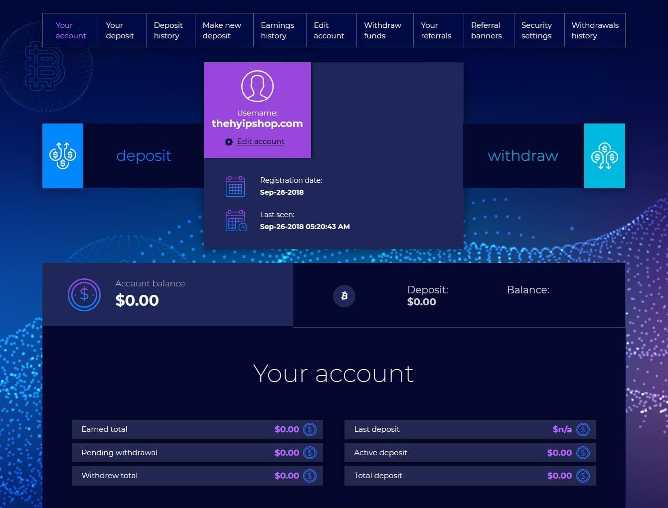 Premium Bitcoin Hyip Script Custom Design 7