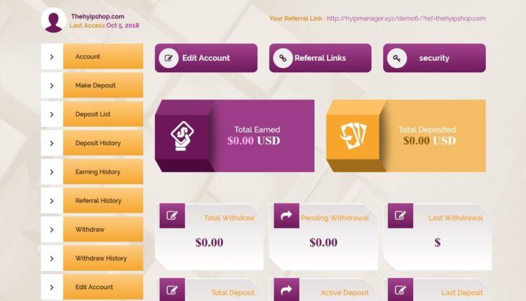 Premium Bitcoin Hyip Script Custom Design 8