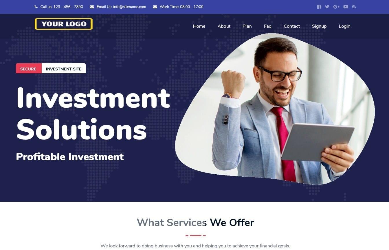 Bitcoin Investment Hyip Script Premium Design 1