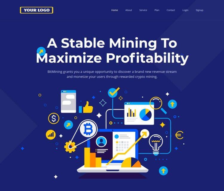 Premium Bitcoin Mining Script V5 Home Page