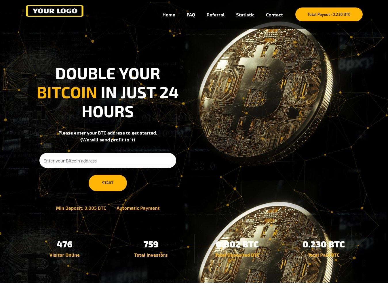 Bitcoin Doubler Script Template S03