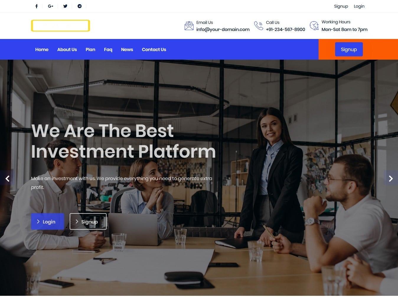 Bitcoin Investment Hyip Script Premium Design 2